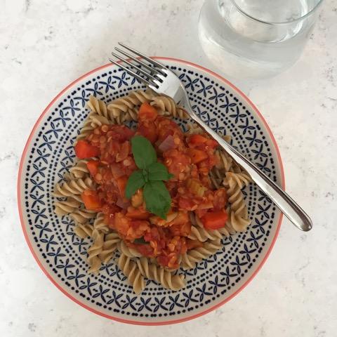 WellNow Lentil Bolognese Recipe