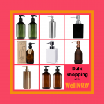 The WellNow Co bulk shopping dispensers for shampoo conditioner and hand wash