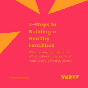 The WellNow Co 3 Steps to building a healthy lunchbox cover square